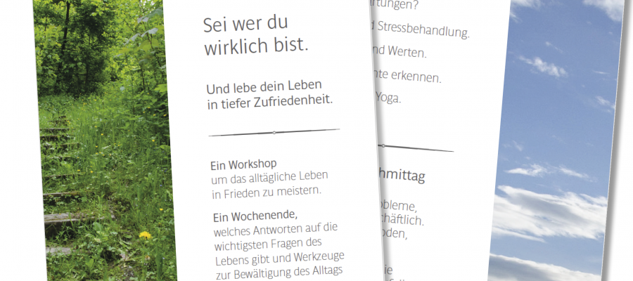 Der Workshop-Flyer geht in den Druck.