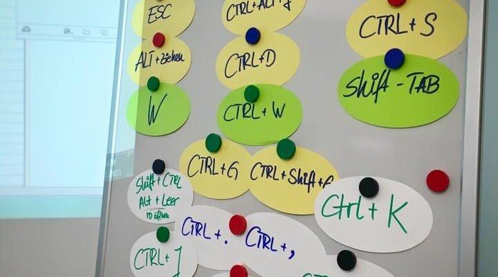 Lustiges Tastaturbefehl-Rätseln im InDesign-Kurs