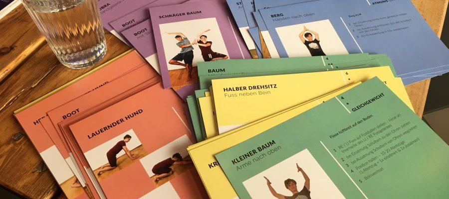 Yoga-Lernkarten für die Schule | Design Thinking & Prototyping