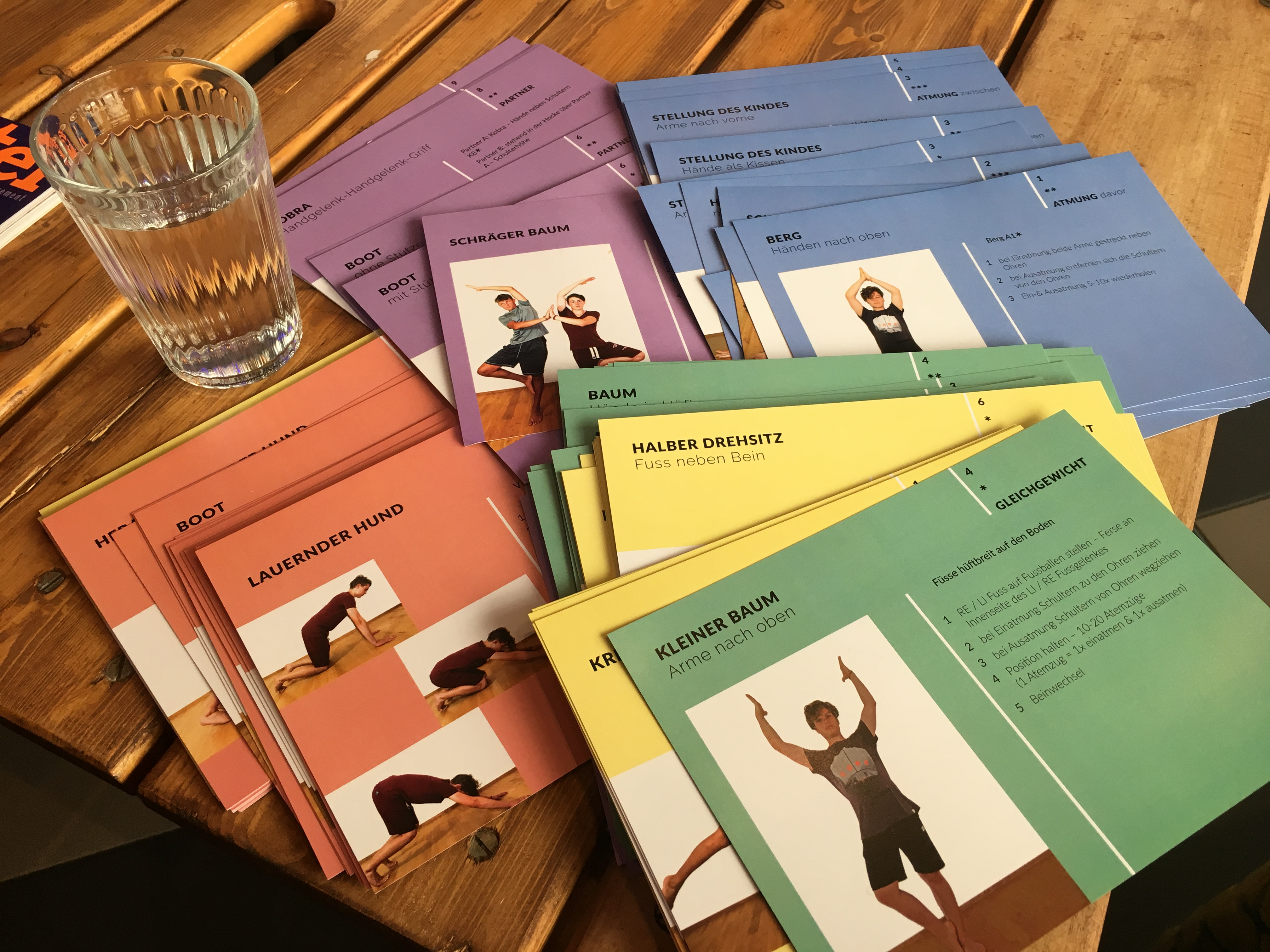 Yoga lernkarten f r die schule design thinking for Schule design