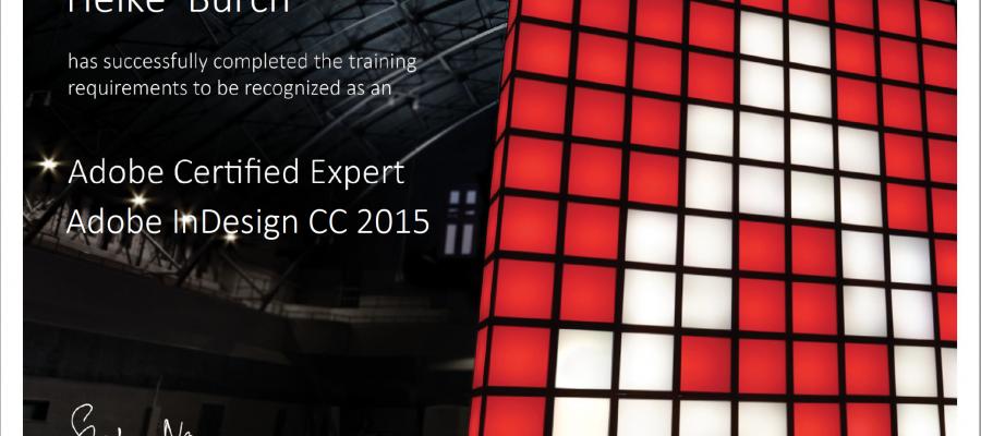 Adobe certified expert – jetzt auch offiziell