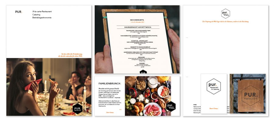 Corporate Design | PUR. Restaurant & Catering